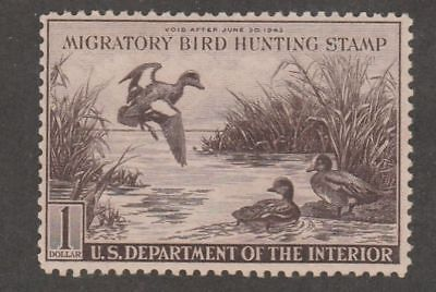 RW9 1942 Federal Duck Stamp F-VF Unsigned No Gum-No Fault, SE or Hinge-Ex