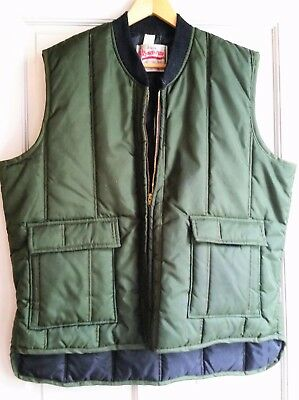 "Vintage '60s Walls' ""Blizzard-Pruf One Piece Suit"" Insulated Outerwear Vest L/XL"