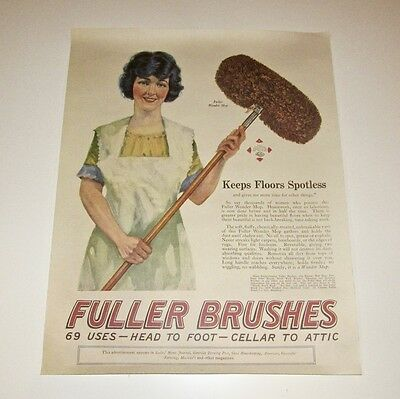 Fuller Brush Advertising Poster - 18 X 23 Inches