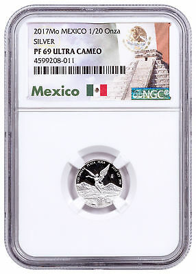 2017-Mo Mexico 1/20 oz Silver Libertad Proof NGC PF69 UC Mexico Label SKU51717