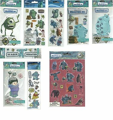 DISNEY MONSTERS INC PICK Sully Mike Randall Monstropolis Scarer Stickers