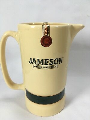 Vintage Eastgate Pottery Jameson Irish Whiskey Water Jug Man Cave 17cm