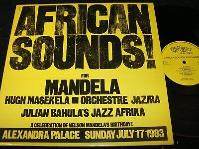 AFRICAN SOUNDS FOR MANDELA Hugh Masekela.../ UK LP 1984 TSAFRIKA RECORDS TSA1003