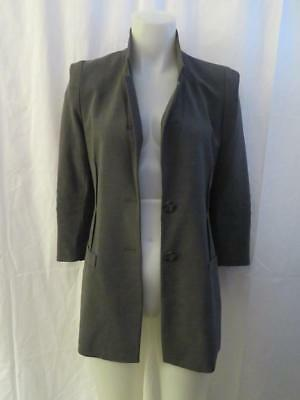 Womens A Pea In The Pod Maternity Gray Blazer - Sz S