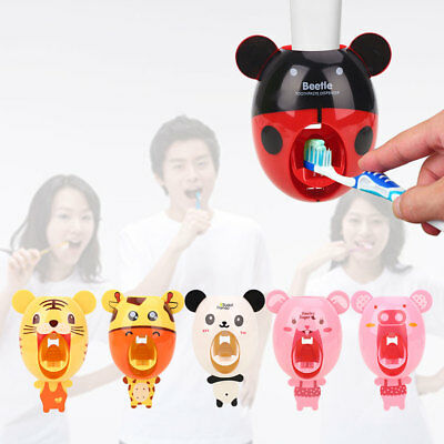 Squeezing Holder Automatic Toothpaste Dispenser Convenient Kawaii 6 Pattern
