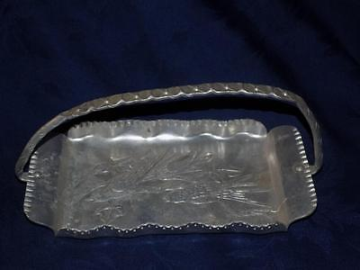Vintage Farber & Shlevin Inc. Aluminum SERVING/ CANDY TRAY w/BIRDS  Hand Wrought