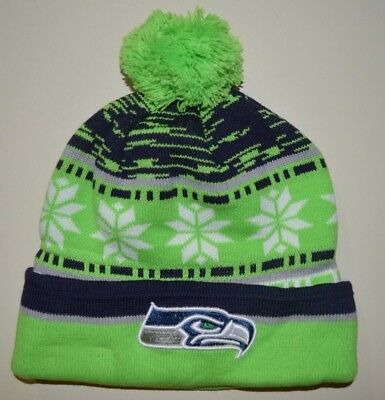 a8abf542783d9 SEATTLE SEAHAWKS winter hat one size knit beanie Russell Wilson ...