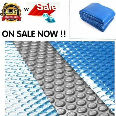 Solar Swimming Pool Cover Outdoor Bubble Blanket Multi Sizes 10 Year Warranty Au
