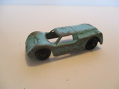 "Vintage Tootsie Toy Diecast Blue Ford GT Race Car 2 1/4"" Long"