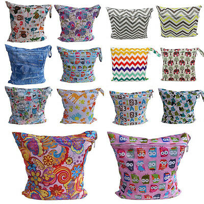 Reusable Waterproof Wet Dry Bag Diaper Nappy Pouch Cloth For Baby Infant Newborn