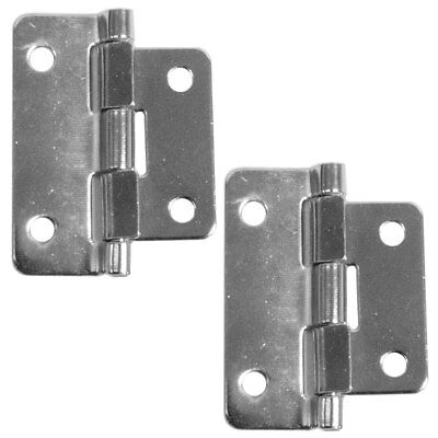 Seismic Audio - Pair of Chrome Lift Off Hinges - 2 Piece - For Pro Audio gear