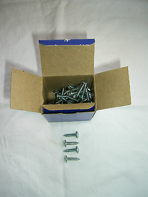 "Vintage 3/4"", Zinc Plated Truss Philips Head Tapping Screws, Qty 90, No 8, NOS"