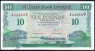 2012 Ulster Bank Limited £10 Banknote * J 4332449 * Vf