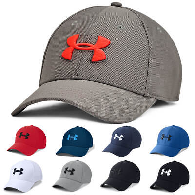 Under Armour Mens Blitzing 3.0 Golf Stretch Fit Curved Peak Hat Cap