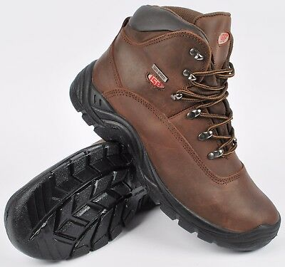 4a012f66434 JSP LOVELL BROWN Waterproof Hiker Style Steel Toe Cap Safety Work Boots UK  12