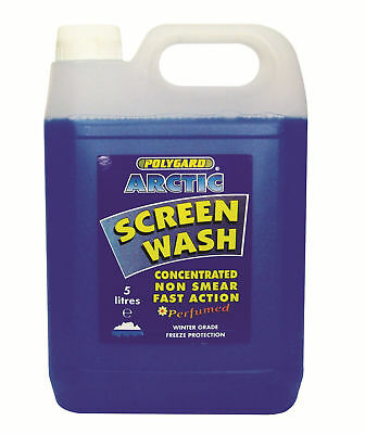 New POLYGARD CONCENTRATED ARTIC SCREEN WASH (5 LTR) PERFUMED NON SMEAR -20c