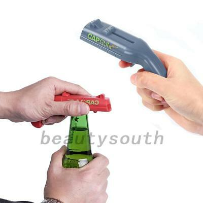 Gun Plastic Beer Bottle Opener Cap Launcher Shooter for Party Drinking Game Gift
