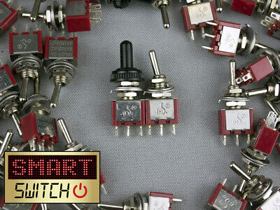 SmartSwitch 6mm SPST & SPDT 3A Silver Brass Metal Toggle Switches