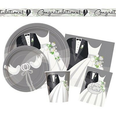 SILVER WEDDING Party Range (Tableware & Decorations) {25th Anniversary} (1C)