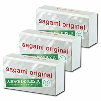 Sagami Brand Original Condoms 002 0.02mm 12 pc x 3 From Japan condom