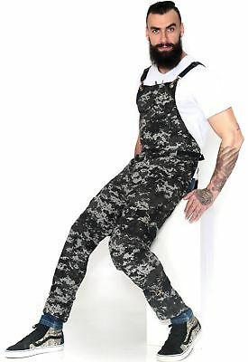 Full Front Cover Cross-Back Apron – Night Camo Twill – Leather Reinforcement and