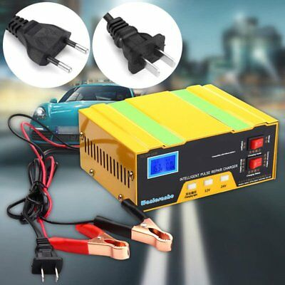 12V/24V Auto Motorcycle Car Battery Charger Pulse Repair Lead Acid Pover Bank