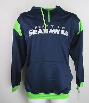 detailed look b9dd3 a626b SEATTLE SEAHAWKS MEN'S Big & Tall Blue 1/4 Zip Hoodie XLT 2XLT 3XL 4XL NFL