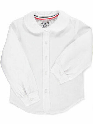 French Toast Little Girls' Toddler L/S Peter Pan Blouse (Sizes 2T - 4T)