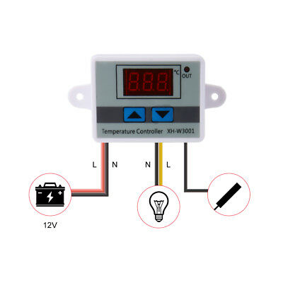 12V/24V/220V Digital LED Temperatur Regler Controller Thermostat Control Sonde