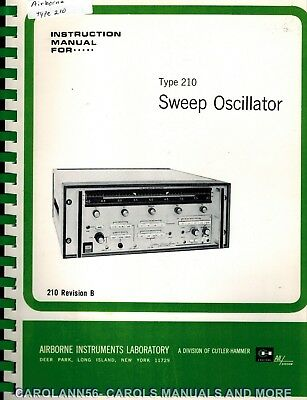 AIRBORNE INSTRUMENTS LABORATORY Manual TYPE 210 SWEEP OSCILLATOR