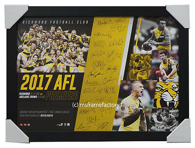 Richmond 2017 Premiers Team Signed AFL Official Print Framed Martin Cotchin