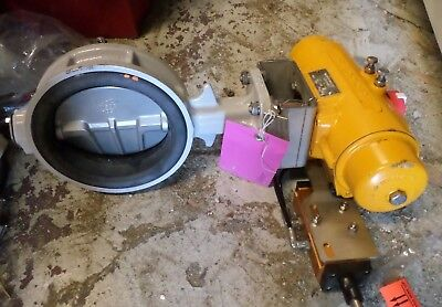 150mm Butterfly Valve and HYTORK 185 ACTUATOR GOYEN 5/2 Valve - BY-700G-1T-H-150