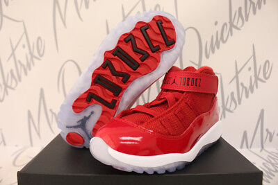 new products bc414 494e3 AIR JORDAN RETRO 11 Xi Retro Toddler Td Win Like 96 Gym Red Kids Baby  378040 623