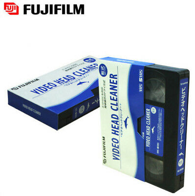 FUJIFILM Head Cleaning Video Tape Cassette For VHS VCR Player & Recorder Dry
