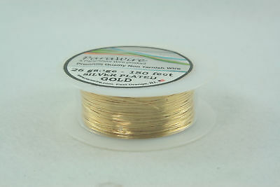 New  Silver Plated Wire - Non Tarnish Gold