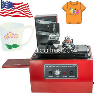 US Stock ELECTRIC PAD PRINTER PRINTING MACHINE T-SHIRT INKPRINT PVC MUG CUP CAN