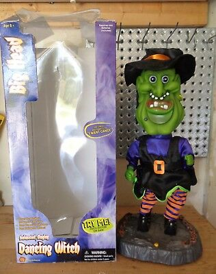 Vintage 2002 Gemmy Big Head Dancing Witch Animated Singing Dancing I Want Candy