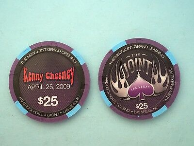 Hard Rock  Kenny Chesney  $25 Casino Chip - Mint/New