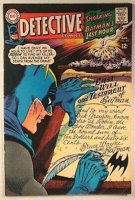 "Detective Comics #366 (DC 1967) FN/VF ""The Round-Robin Death Threats!"""