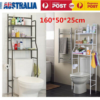 3 Tier Over Toilet Bathroom/Laundry/Washing Machine Storage Rack Shelf Organizer