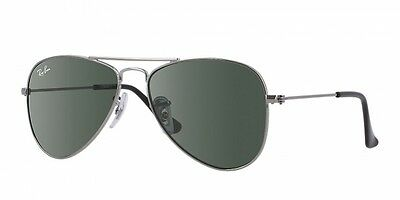 NEW Genuine RAY-BAN Junior Designer Gunmetal Aviator Sunglasses RJ 9506S 200/71