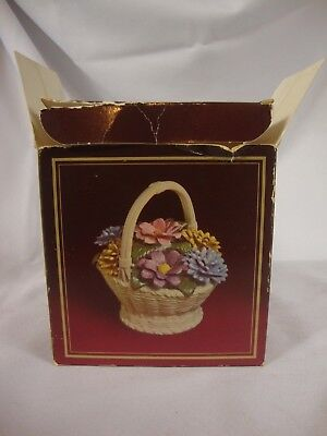 Vintage Avon Porcelain Floral Bouquet Height 3.75 Inches Collectible 1980