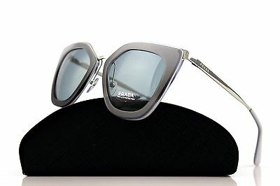 71dce8f9592 RARE Genuine PRADA CINEMA EVOLUTION Grey Silver Sunglasses SPR 53S UFV-3C2  52MM