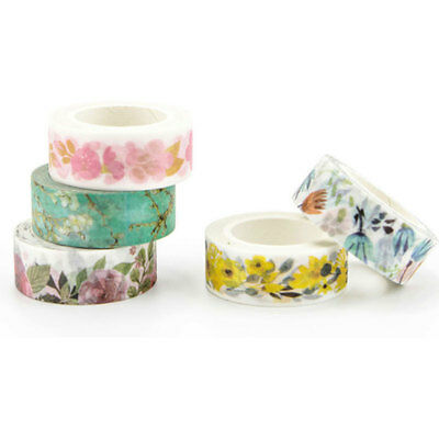 Colorful Cute Washi Tape Adhesive Sticky Paper Masking Tape Crafts Decor x 1