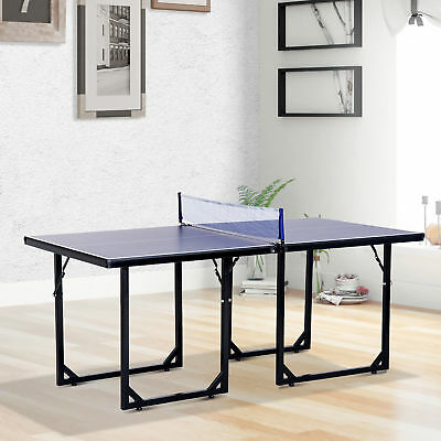 Mini Table Tennis Ping Pong Table Folding Portable Indoor Outdoor Game Sport  sc 1 st  PicClick & PORTABLE FOLDING Ping Pong Table Set Tennis Table Indoor Game w ...