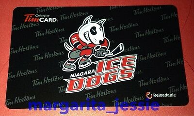 "New 2016 Tim Hortons Canada Gift Card ""niagara Ice Dogs"" No Value #6130 Fd53353"