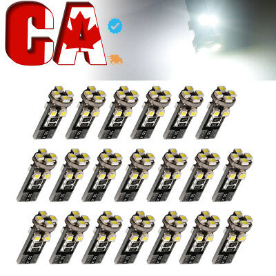 20 X CANBUS ERROR FREE White T10 8-SMD LED Interior Light Bulbs W5W 194 168 28