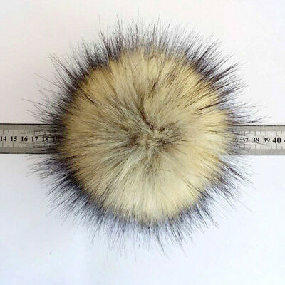 Cute 15cm Faux Raccoon Pompoms Balls For Hats Cap Scarf Gloves Attached The Hasp