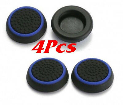 4X Blue Thumb Grip Caps For PS3 PS4 Xbox One 360 Analog Controller Stick Cover