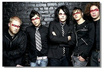Poster My Chemical Romance Music Band Room Art Wall Cloth Print 213